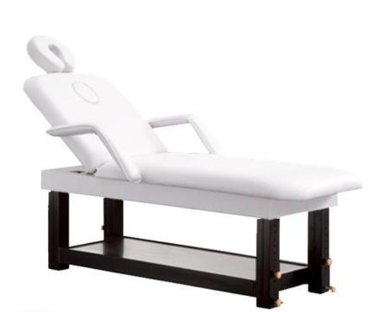 "TABLE DE MASSAGE FIXE BOIS ""ESSENCE D'IRIS"""