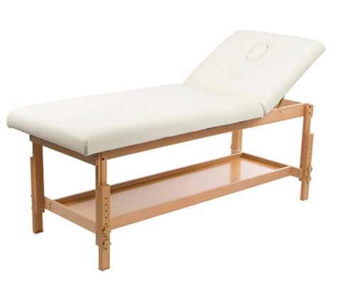 "TABLE DE MASSAGE FIXE BOIS HETRE ""BALI NOYA"""