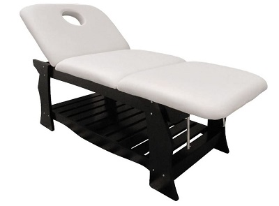 "TABLE DE MASSAGE BOIS FIXE 3 PLANS WENGE ""ELLIA"""