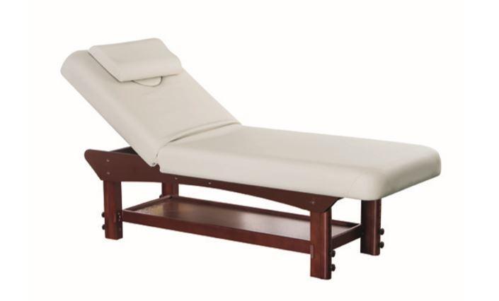table de massage fixe bois wenge maoni institut de beaute hotel spa esthetique pro